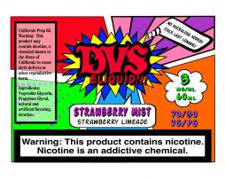 Strawberry Mist By DVS E-liquid