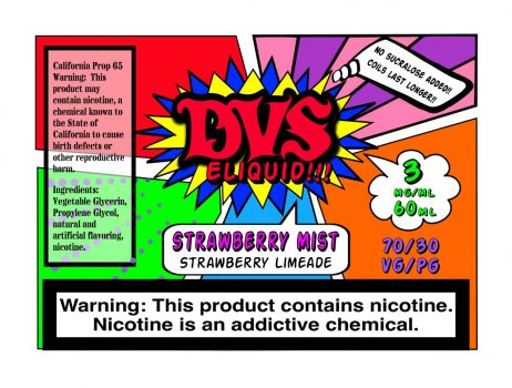 Strawberry Mist By DVS E-liquid